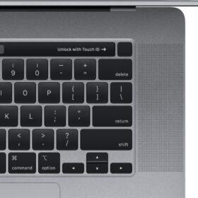 """Amplie sua visão de tudo no MacBook Pro 16 Polegadas Intel Core i7 16GB Applegraças a uma tela Retina maior de 16 """"com resolução de pixels mais nítida e suporte para milhões de cores."""